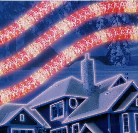 Red LED Crystal Iced Rope Christmas Lights